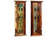 Vidaxl Porte-manteau 2 pcs bois de récupération massif 38 x 100 cm