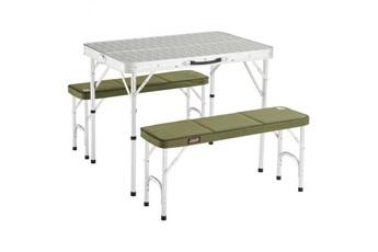 Coleman table pliante pack away - 4 places - vert et gris