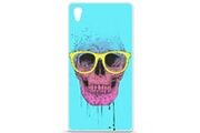 1001 Coques Coque silicone gel sony xperia z5 motif bs skull glasses