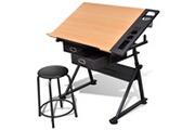 GENERIQUE Tables de travail reference gaborone table à dessin inclinable 2 tiroirs et tabouret