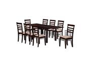 GENERIQUE Ensembles de meubles serie tarawa-sud ensemble de salle à manger extensible 9 pcs marron