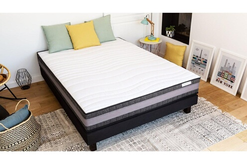 hbedding matelas m moire de forme 90x190 memo confort hbedding mousse ergonomique haute densit. Black Bedroom Furniture Sets. Home Design Ideas
