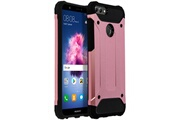 Xunylyee 2 en 1 coque pour huawei p smart smartphone protection souple slim silicone antichocs - or rose