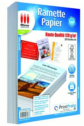 Micro Application Ramette 250 papier haute micro application ma-5348