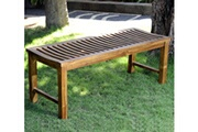 Wood-en-stock Banc de jardin en teck huilé 120 cm