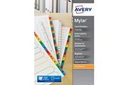 Avery Intercalaire mylar carte a4 20 touches alphabétiques
