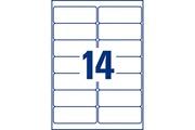 Avery Etiquettes d'adresse 99.1 x 38.1 mm x 168