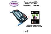 T3azur Toner générique hp q6470a pour hp color laserjet 3800, 3800dn noir + 10f papiers photos a6 -t3azur
