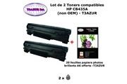 T3azur 2 toners génériques hp cb435a ,hp 35a pour imprimante hp laserjet p1008, p1009 + 20f papiers photos a6 -t3azur