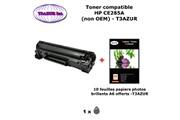 T3azur Toner générique hp 85a, ce285a pour hp laserjet m1132 m1212nf p1102 p1109+ 10f papiers photos a6 -t3azur