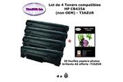 T3azur 4 toners génériques hp cb435a ,hp 35a pour imprimante hp laserjet p1008, p1009 + 20f papiers photos a6 -t3azur