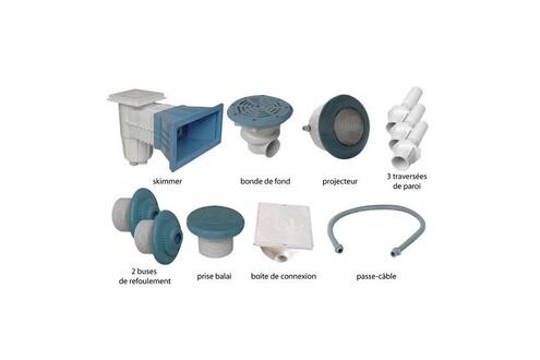 Astral Kit n°1 pièces à sceller bleues pour piscine béton