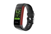 Qumox Montre intelligente bracelet connectée fitness tracker rouge - podomètre ,moniteur de fréquence cardiaque pour iphone samsung huawei android ios smartphone hommes femme enfant ( compteur de pas, calorie, distance, sommeil...)
