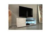 AUCUNE Kora meuble tv contemporain avec éclairage led laqué blanc - l 100 cm