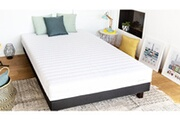 Hbedding Ensemble matelas mousse haute densité + sommier 140x190 ergo plus hbedding - coutil microfibre déhoussable.