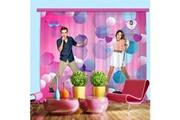 Bebegavroche Rideaux rose & bleu violetta disney channel-standard : 280x245 cm