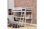 LE QUAI DES AFFAIRES Lit mezzanine aspen 90x190 + 1 sommier + bureau / blanchi