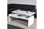 Weber Industries Table basse relevable rectangulaire en bois blanc darwin