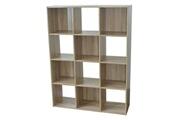 Alsapan Etagère cube en bois h123 l92cm 12 niches compo