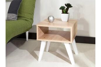 Bout de canapé en bois longueur 40 cm nora