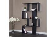 Mermillodporret Etagère design 8 niches en bois laqué noir maia