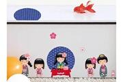 Nouvelles Images Sticker décoratif pour meubles enfant l'heure du thé 24x36cm girly