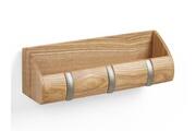 Umbra Porte courrier et patère 3 accroches en bois 26.7x6.4x7.6cm cubby mini