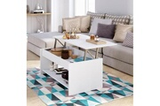 AUCUNE Happy table basse relevable style contemporain blanc mat - l 100 x l 50 cm