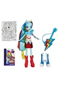 Hasbro My little pony equestria girls includes accessories rainbow dash with guitar