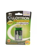 Lloytron Lloytron b018 rechargeable pp3 9v ni-mh batteries 250mah