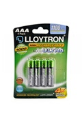 Lloytron Lloytron b1004rechargeable accuultra aaa ni-mh batteries 1100mah 4 pack