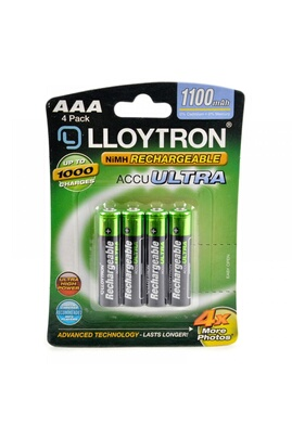 Lloytron Lloytron b1004rechargeable accuultra aaa ni-mh batteries 1100mah 4 pack