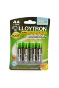 Lloytron Lloytron b012 rechargeable accudigital aa ni-mh batteries 1300mah 4 pack
