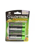 Lloytron Lloytron b017 rechargeable d ni-mh batteries 3000mah 2 pack