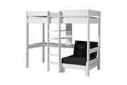 Maisonetstyles Lit surélevé 90x200 cm avec fauteuil blanc - pino