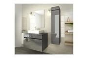 AUCUNE Luna ensemble salle de bain simple vasque l 80 cm - gris verni