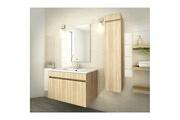 AUCUNE Luna ensemble salle de bain simple vasque l 80 cm - décor oak sonoma