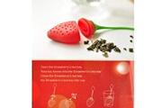 Dulce Casa Boule à thé en silicone en forme de fraise - rouge
