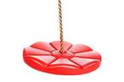 Ancheer Ensemble de balançoire rond avec chaine rouge