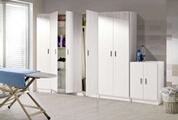 Pegane Armoire rangement nettoyage 2 portes en mélamine coloris blanc - dim : h180 x l73 x p37 cm -pegane-