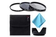 Xcsource Xcsource filtre uv cpl nd4 + cache lentille 58mm compatiblecanon 550d 500d 450d 400d 350d lf282