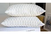 Hbedding Lot de 2 oreillers à mémoire de forme 60x60 memo soft - flocons de mousse mémoire de forme