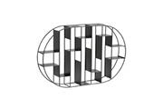 Hellin Meubles Étagère murale ovale en métal emo