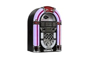 Auna Arizona jukebox style rétro - bluetooth radio fm usb sd mp3 lecteur cd - noir