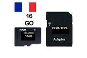 Ceka Tech Carte mémoire hp elite x3 , ceka tech® micro-sd 16go classe 10 avec adaptateur sd