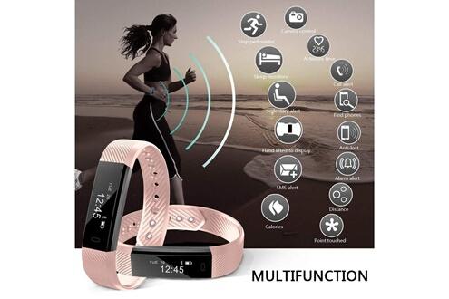 Yuanguo Bracelet connecté fitness tracker yg3 rose