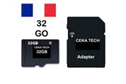 Ceka Tech Carte mémoire hp elite x3 , ceka tech® micro-sd 32go classe 10 avec adaptateur sd