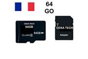 Ceka Tech Carte mémoire hp elite x3 , ceka tech® micro-sd 64go classe 10 avec adaptateur sd