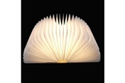 Coocheer Portable en bois pliante led flip livre lampe nuit magnétique léger blanc chaud