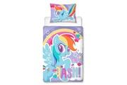 My Little Pony My little pony rainbow dash housse de couette enfant - 50% coton - 50% polyester - junior (120x150 cm + 1 taie) - 1 pièce (62x42 cm) - multicolore